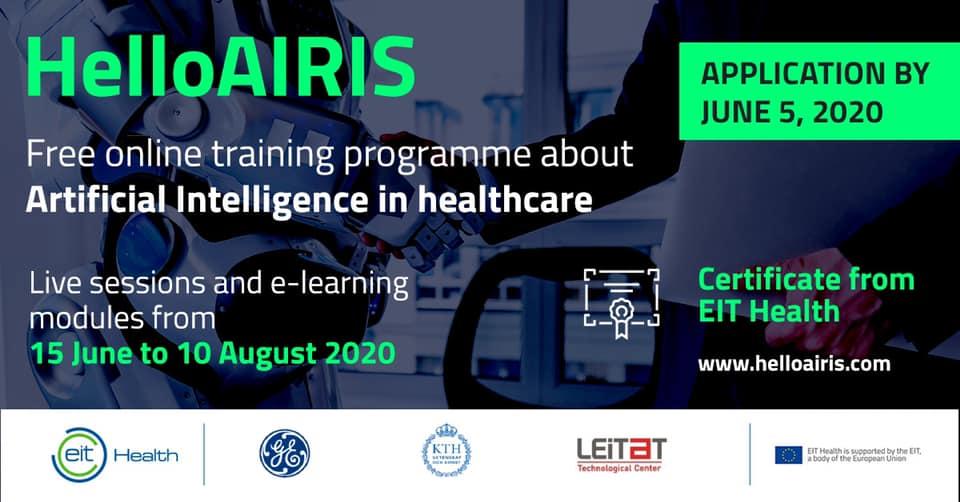 Candidaturas abertas: HelloAIRIS - Inteligência Artificial em saúde - curso online gratuito