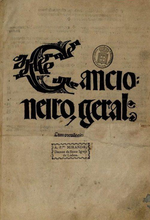 História da língua portuguesa - Cancioneiro Geral